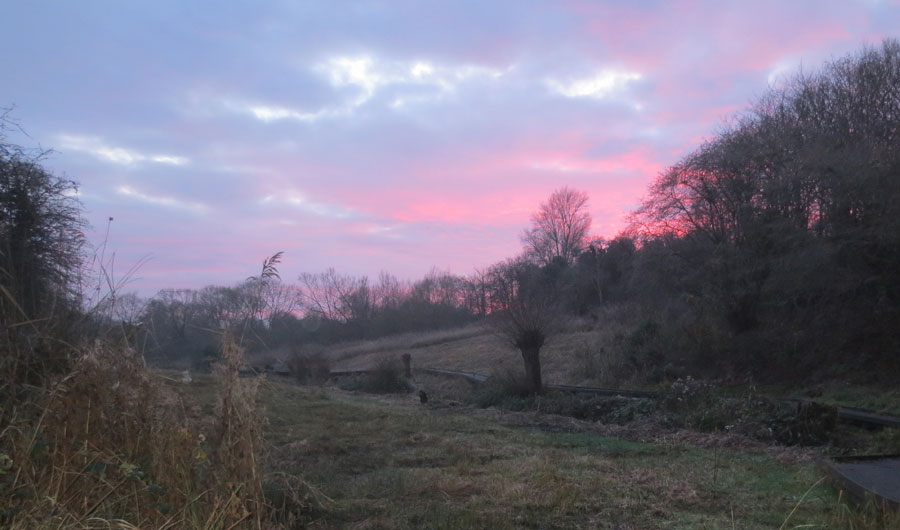 Winter sunset in the Lye Valley